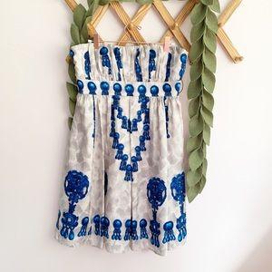 Nanette Lepore Silk Chandelier / Bead Print Dress